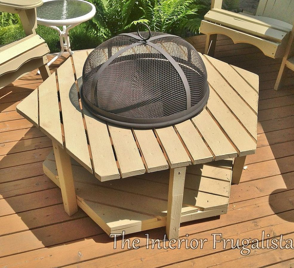 ... Fire Pit, Consider Creating A Wooden, Freestanding Model.