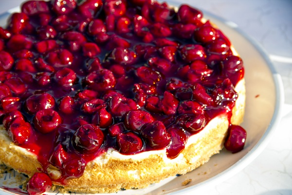 Sour Cherry Cheesecake for the 4th of July!   Marisa Churchill