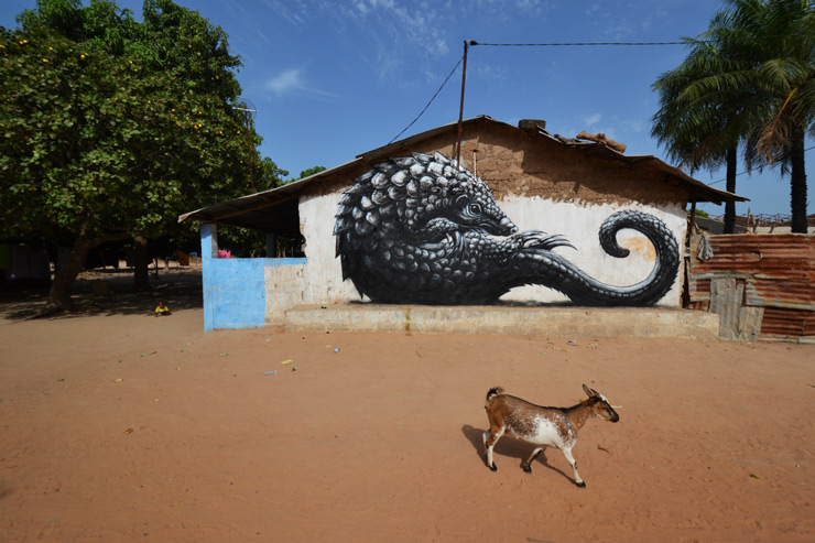 imagen street art wide open walls Lawrence Williams James English Makasutu Eco Lodge arte callejero 2014 07 01 brooklynstreetartroathegambia0714web3