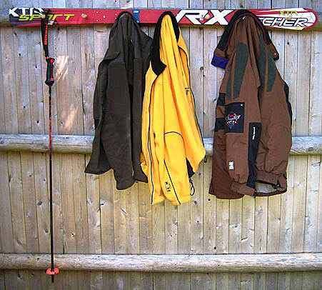 40 Ways To Repurpose Your Ski Gear HuffPost Life Inspiration Old Ski Coat Rack