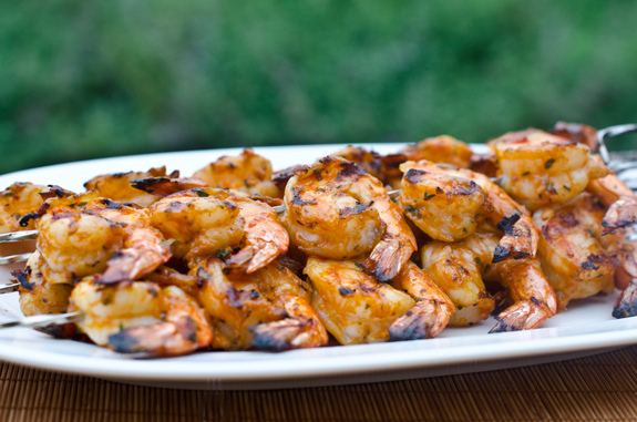 Grilled Chicken And Shrimp Kebabs With Lemon And Garlic Recipes ...