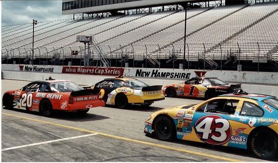 2014-07-07-NASCARcarsontrack.JPG