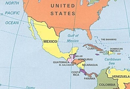 Show Me A Map Of Central America Show Me A Map Of Central America ~ GOOGLESAIN