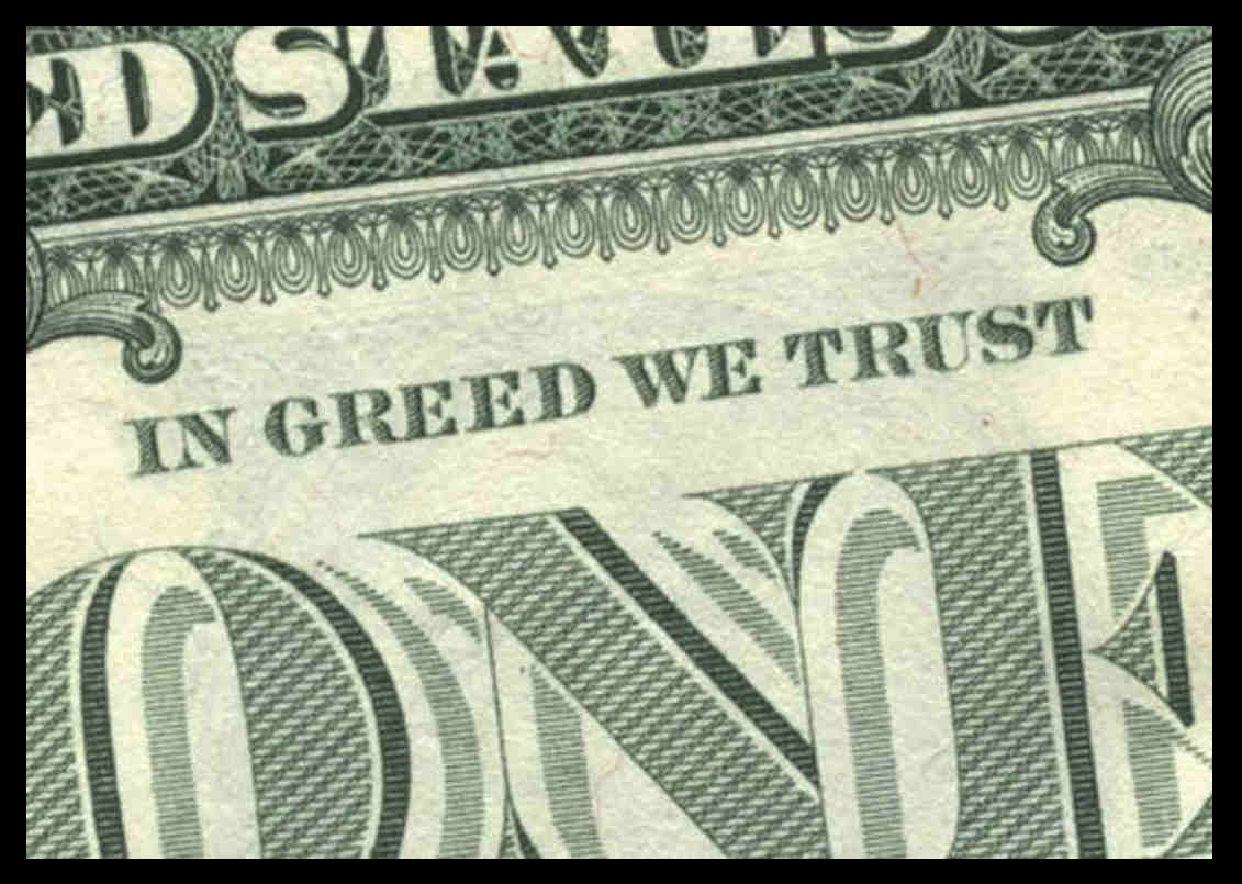 I Pledge Allegiance To Greed Huffpost