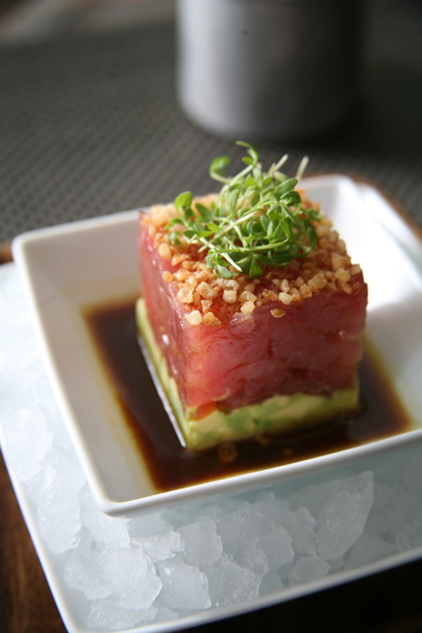 Tuna Tartare with Avocado Soy Lime Dressing at BLT Steak