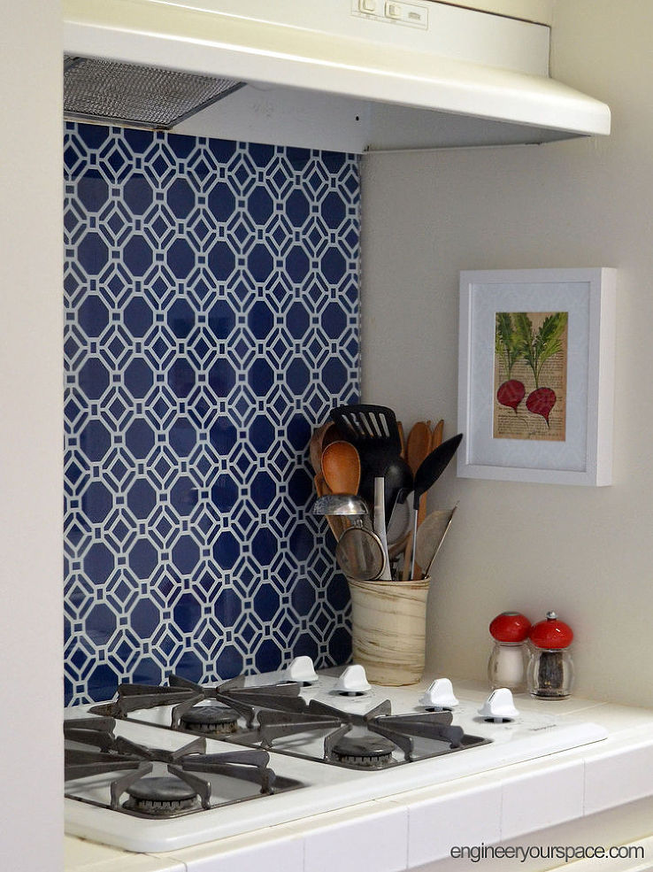 11 surprising uses for wallpaper around the house huffpost - Washable wallpaper for kitchen backsplash ...