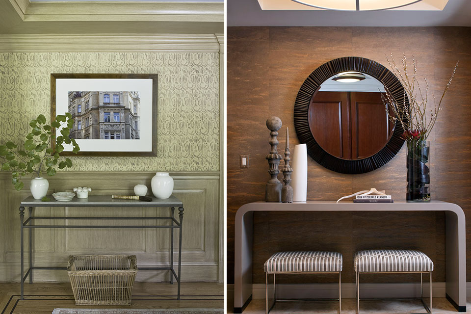 6 styled vignettes featuring console tables huffpost for Interior decorating vignettes