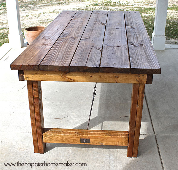 Farmhouse Table Via The Happier Homemaker On Hometalk