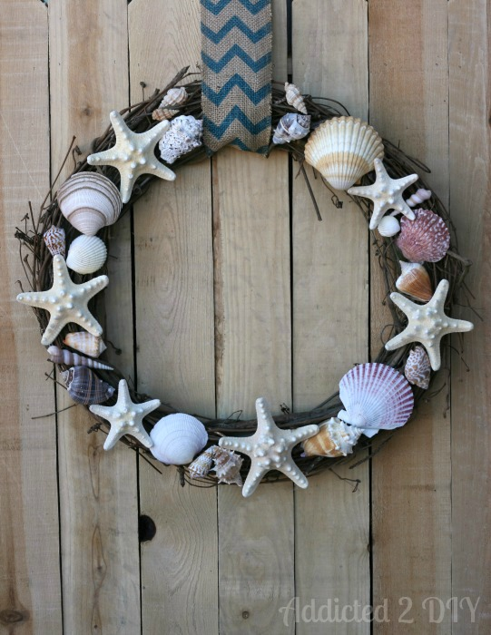 11 pottery barn inspired diy projects huffpost for Seashell wreath craft ideas