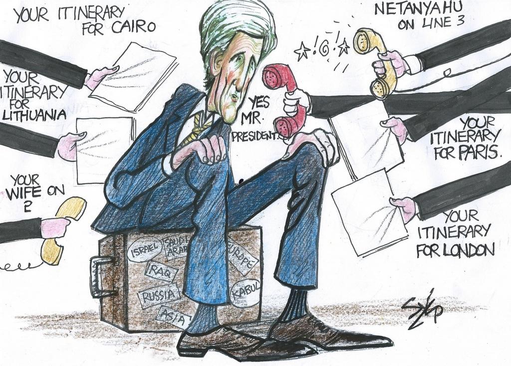 Image result for Secretary Kerry CARTOON