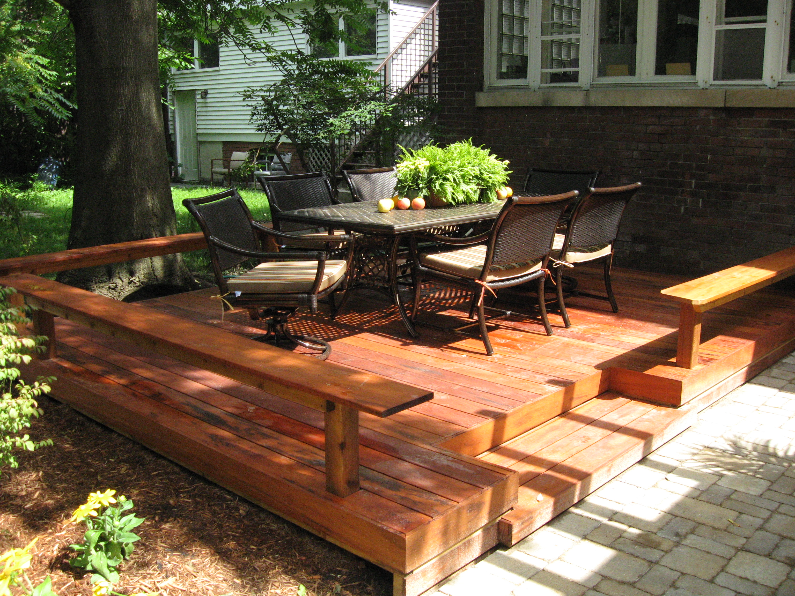 deck vs. patio: what is best for you? | huffpost - Deck Patio Designs