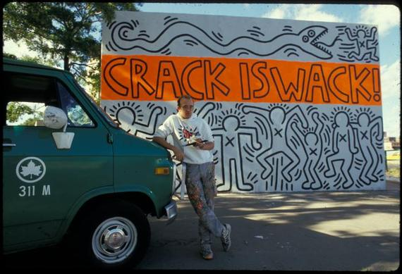 Arts for Crack is wack keith haring mural
