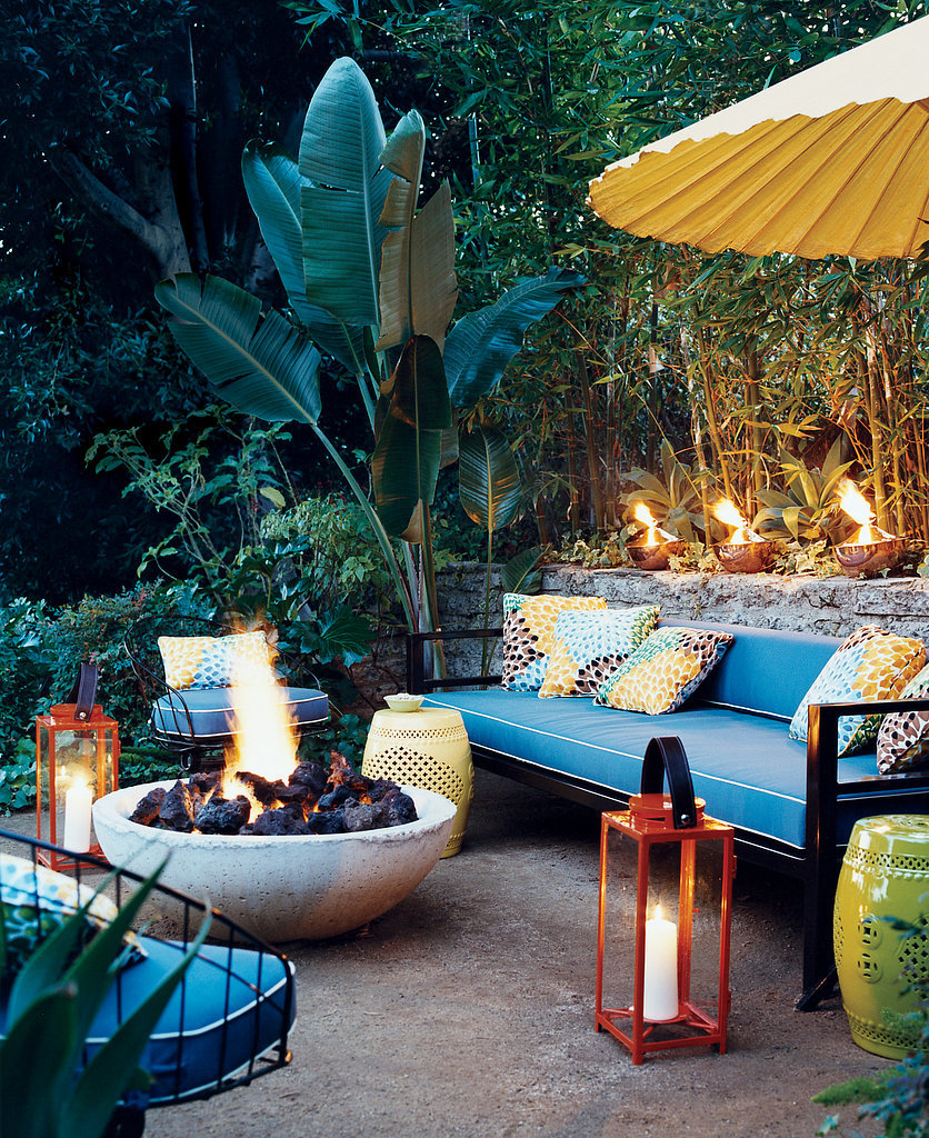Inside out inspiration for the perfect outdoor living room huffpost - How to create a small outdoor oasis ...
