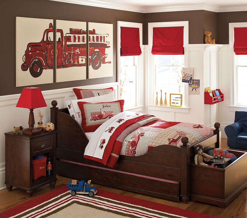 10 kid 39 s rooms that make you want to be a kid again for Fire truck bedroom ideas