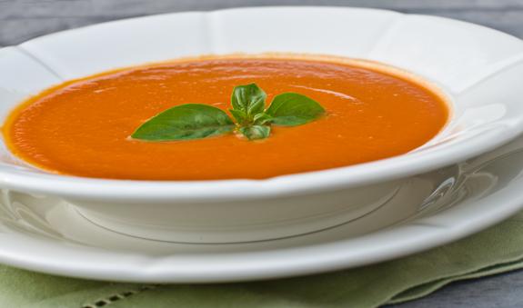 Chilled Creamy Tomato Basil Soup