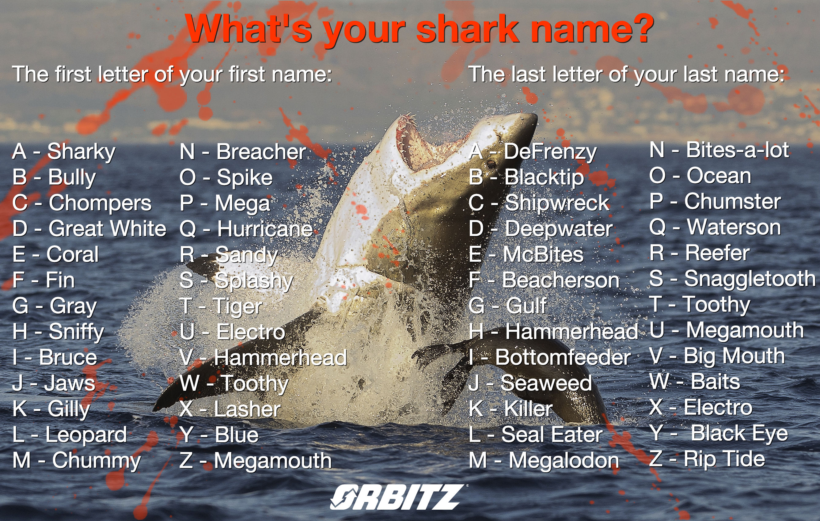 Quiz What S Your Shark Name Huffpost Life