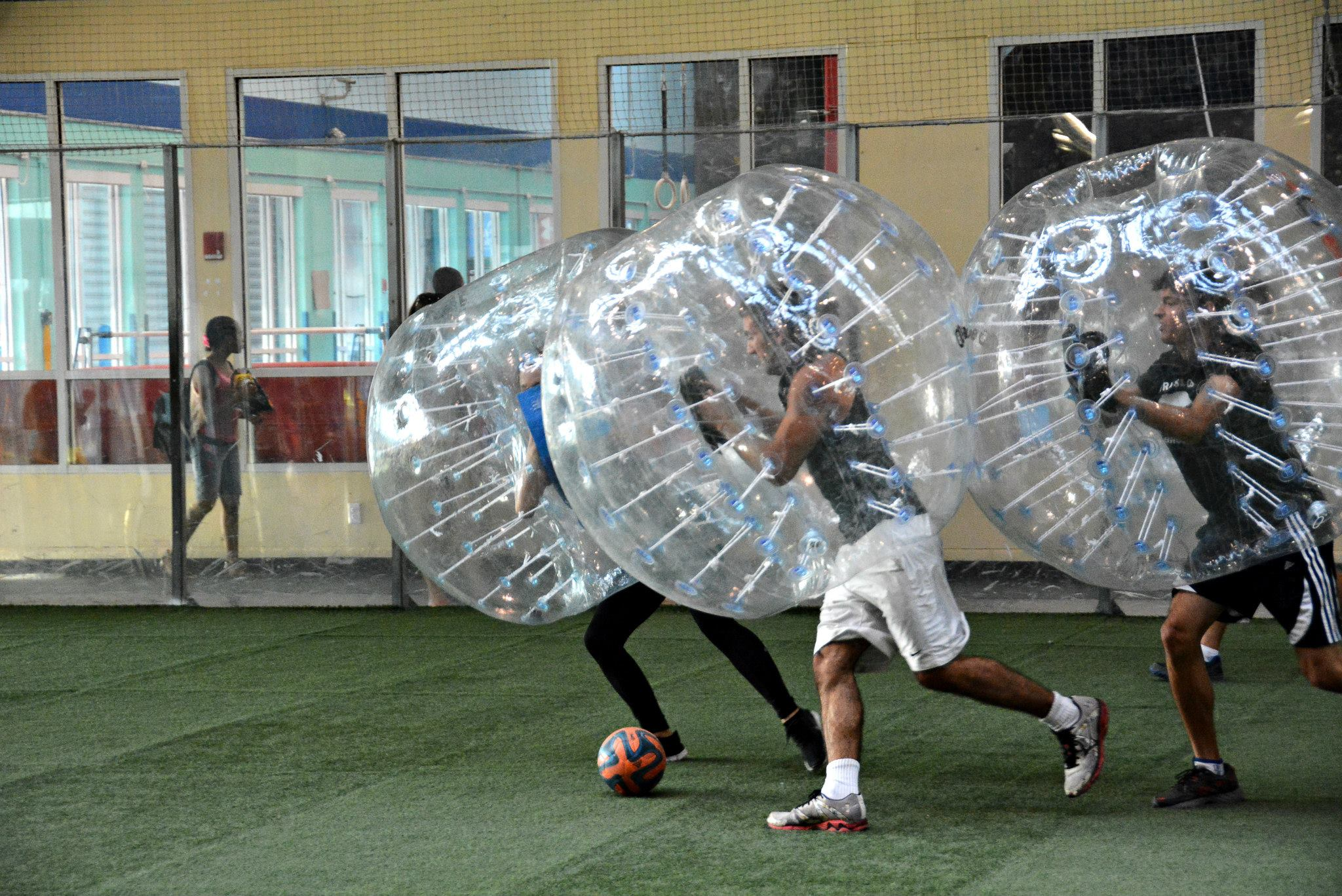 Ready To Roll Bumping And Bouncing With Bubbleball Huffpost