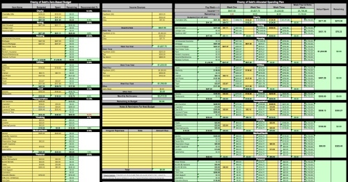managing bills spreadsheet free