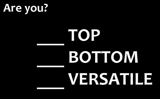 what does top and bottom mean in gay terms
