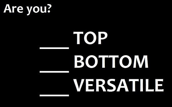 Bottom or top gay