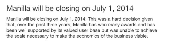Manilla shuts down -- Carley Knobloch