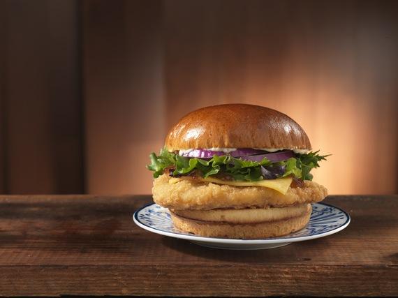 Wendy's single ciabatta bacon cheeseburger