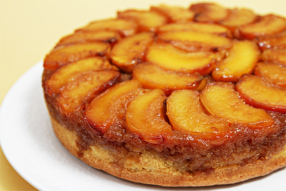 Gluten Free Peach Upside Down Cake