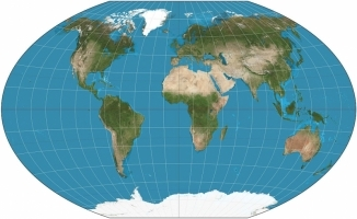 Winkel triple projection map of the world