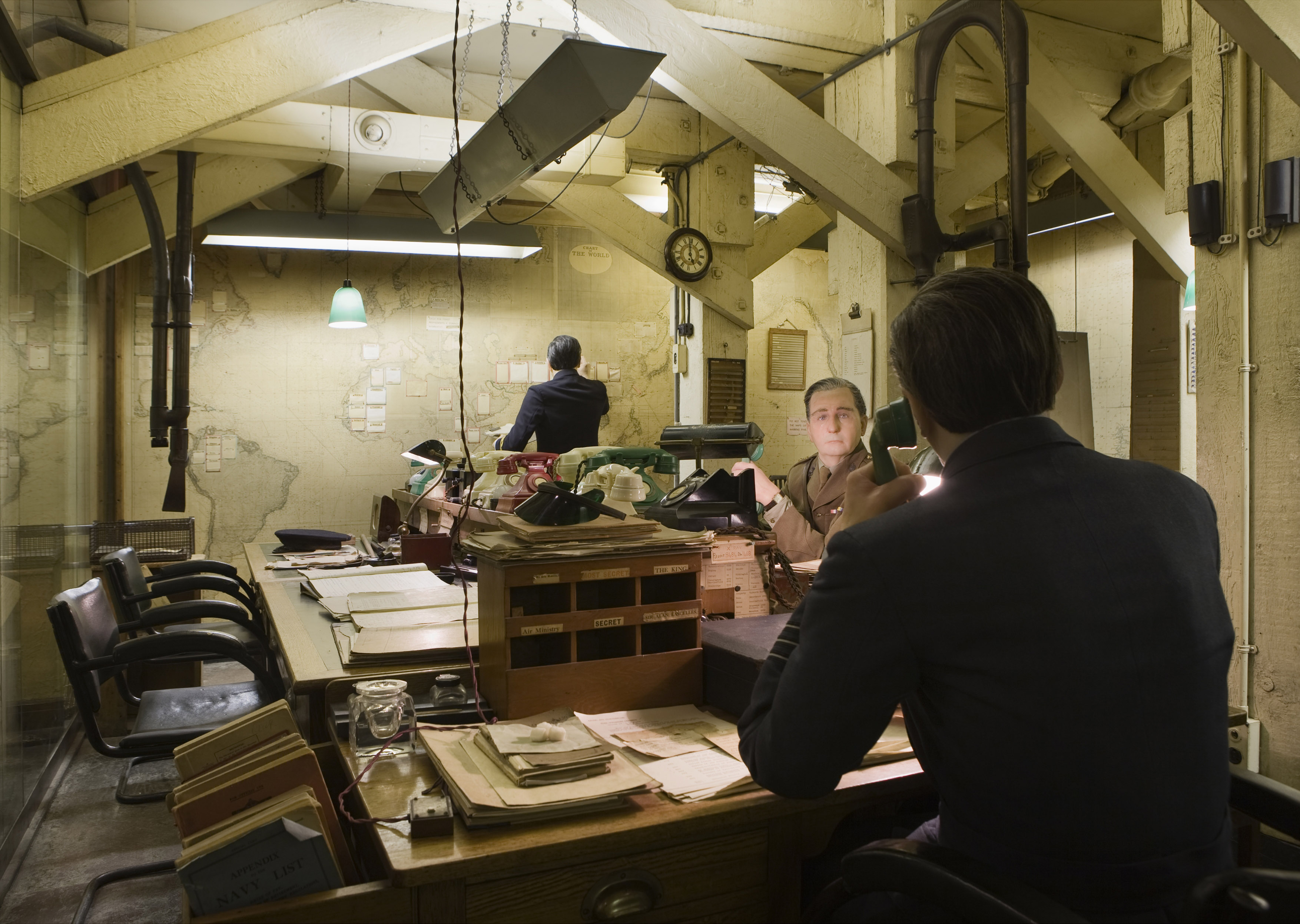 Cool britannia the best of british history in nine museums - Churchill war cabinet rooms ...