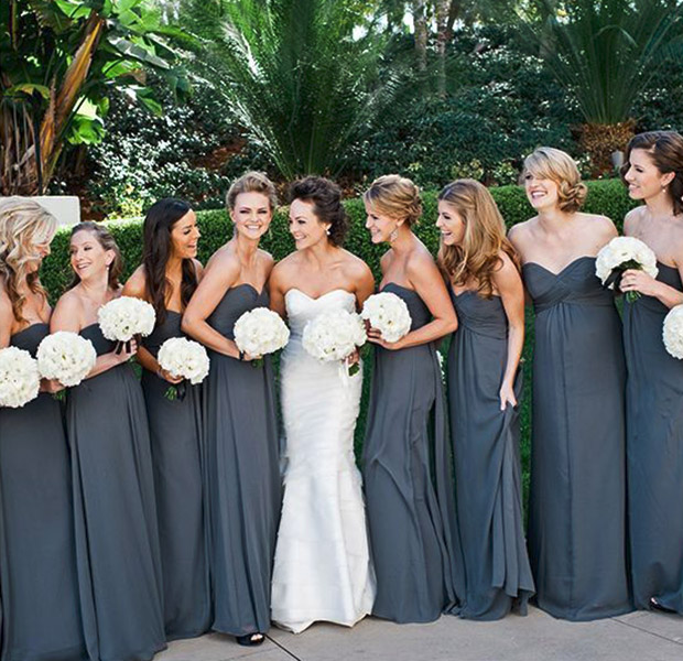 Fall Wedding With Black Bridesmaid Dresses : Bridesmaids g