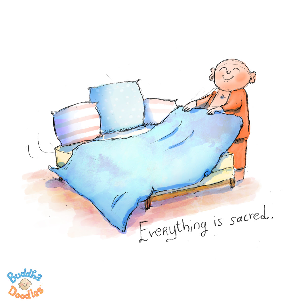 today's buddha doodle - why you should make your bed | huffpost