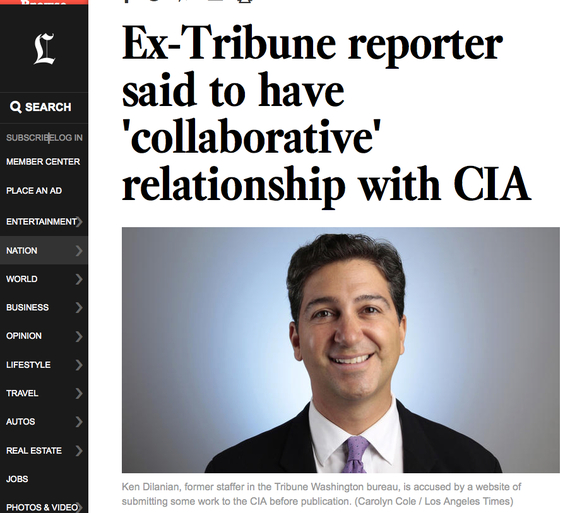 L A  Times Disowns Reporter Outed as a CIA Collaborator | HuffPost