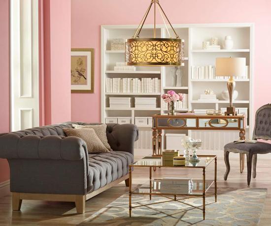 French-inspired living room