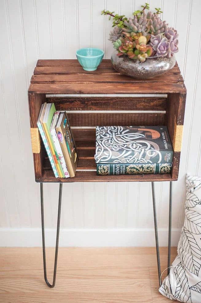 get the perfect bedside table even if you don 39 t have the On crate end table diy