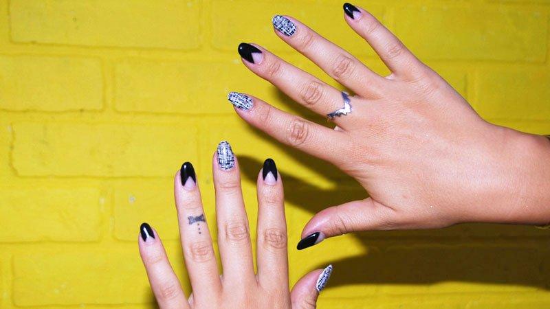 Diwhynot Diy Tweed Nail Art Huffpost Life