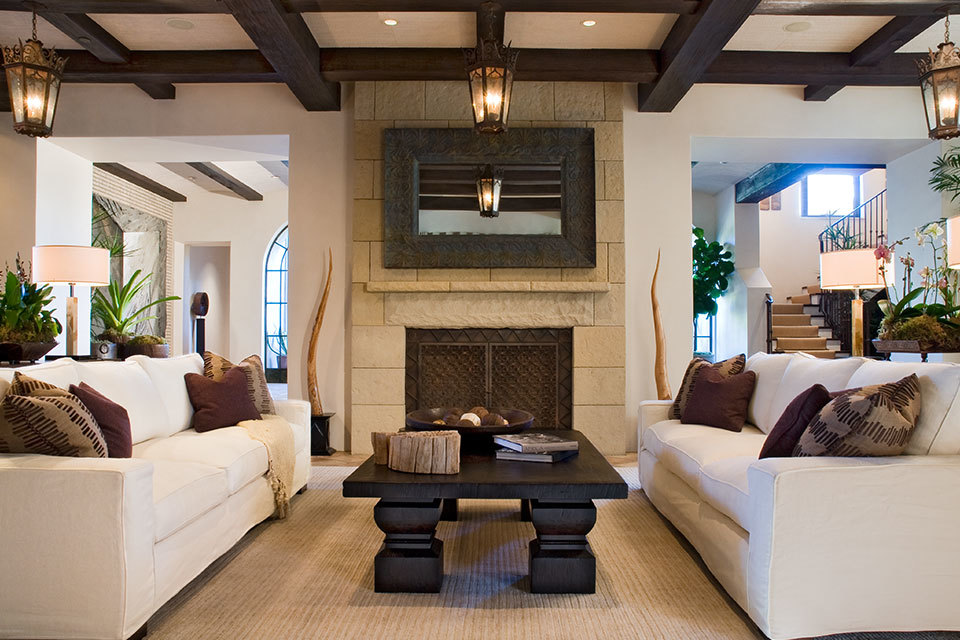 6 elegant spaces with balanced symmetry huffpost for Symmetrical interior design