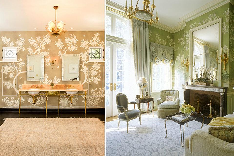 Wallpaper For Living Room 2014 trend alert: wallpaper is back | huffpost