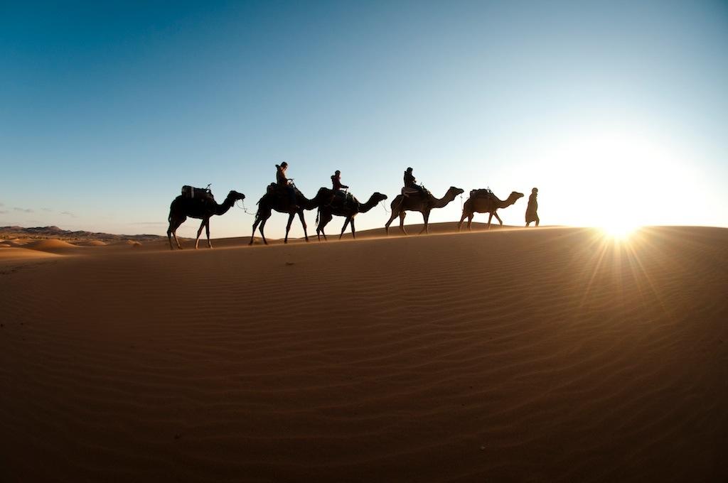 Preparing for a perilous journey across the desert