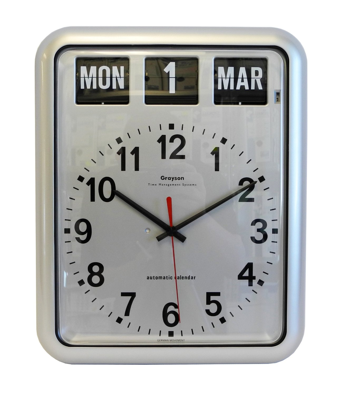 Wall clock with date and day telling time the vintage design of alzheimers clocks huffpost amipublicfo Gallery