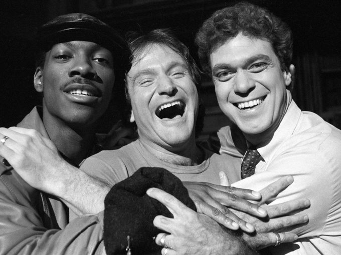 Photo of Joe Piscopo & his friend  Eddie Murphy