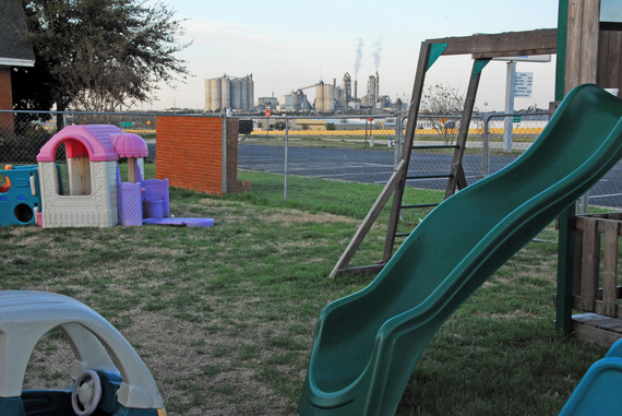 An industrial incinerator, as viewed from a church playground in Midlothian, Texas. (Photo courtesy of Samantha Bornhorst)