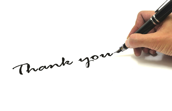 How to write a thank you email after an interview huffpost Thank you in calligraphy writing
