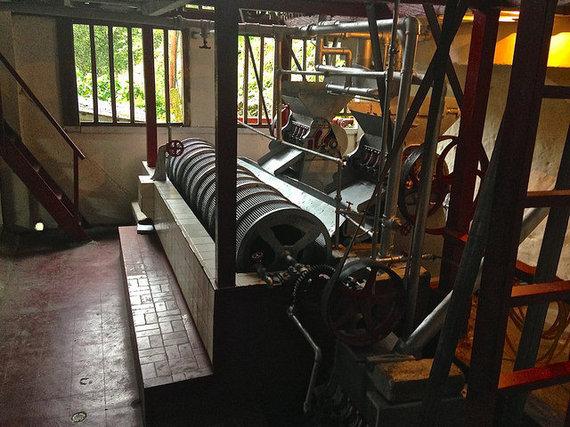 La Victoria's original coffee machine brought over from London in the 1800s