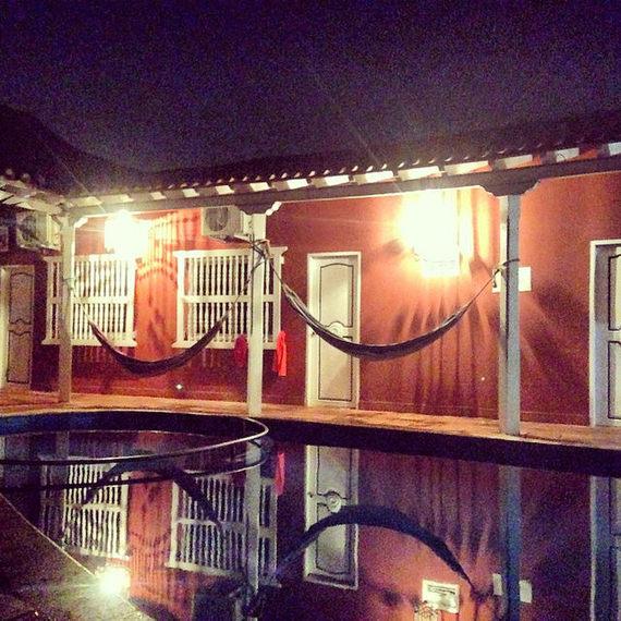 Casa Relax hammocks by the pool in Cartagena