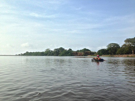 tubing in the Palomino River Colombia
