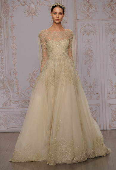 Monique lhuillier wedding dresses inspired by ballerinas for fall 2015