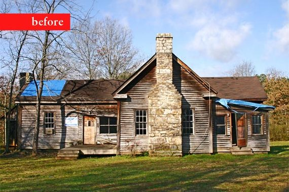Extreme remodel from falling farmhouse to rescued and for Remodeling old homes
