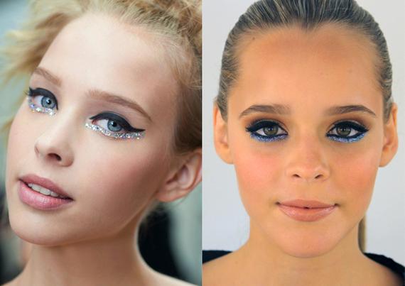 Chanel's Glitter Eye Makeup