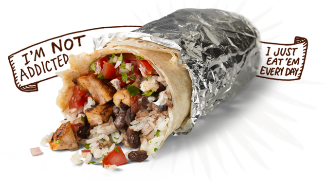 A Chipotle burrito. The Chipotle reputation management team has been very busy since the E. coli outbreak began.