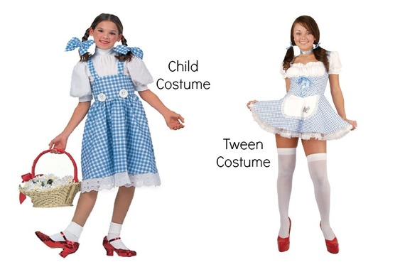 Here's Proof That Tween Girl Halloween Costumes Are Way Too Sexed